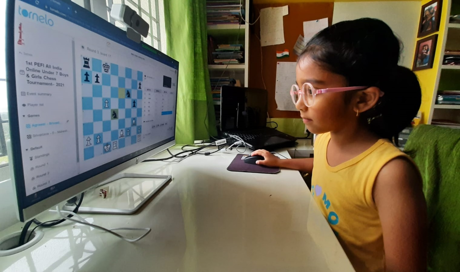 GIIS Noida Student participating the chess tournament